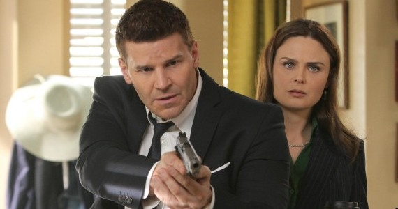 Bones season 8 episode 17 Booth Brennan gun Bones Season 8, Episode 17: The New Guy
