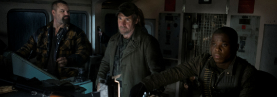 Brad Kelly Will Patton and Mpho Koaho in Falling Skies Brazil Falling Skies Season 3 Finale Review