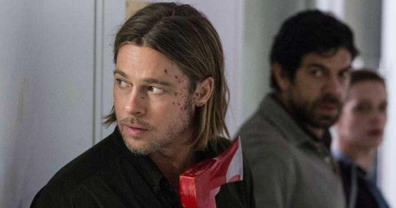 Brad Pitt with an Axe in World War Z