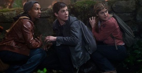 Brandon T Jackson Logan Lerman Alexandra Daddario Percy Jackson Sea of Monsters Percy Jackson: Sea of Monsters Review