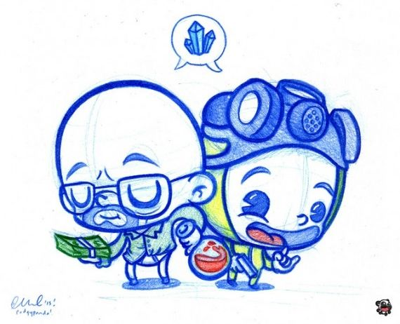 Breaking Bad Cute Artwork SR Geek Picks: Dark Knight Retires, Harrison Fords Star Wars VII Spoilers & More
