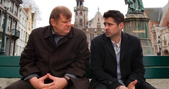 Brendan Gleeson and Colin Farrell in In Bruges Mickey Rourke Out, Woody Harrelson In For Seven Psychopaths
