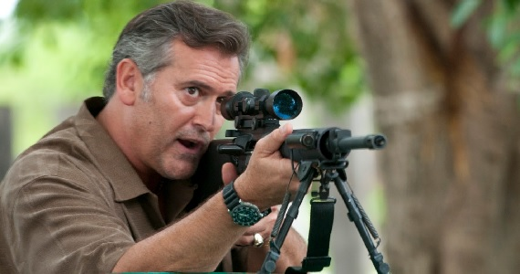 Bruce Campbell in Burn Notice Bruce Campbell to Return as Ash in Army of Darkness 2