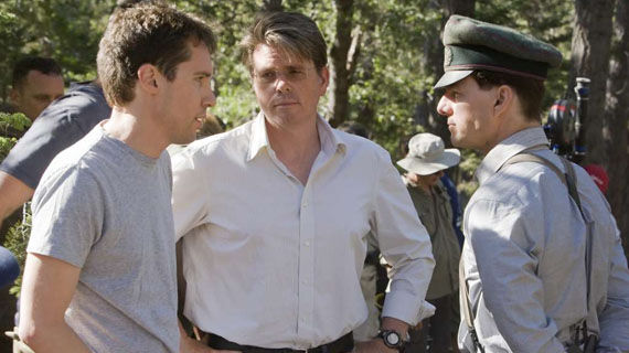 Bryan Singer Christopher McQuarrie and Tom Cruise Valkyrie set Jack Reacher Director Christopher McQuarrie on Directing Jail & Sequel Ideas