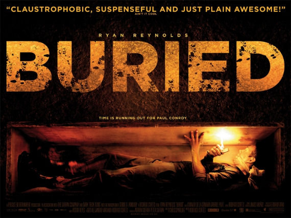 Buried quad poster Poster Friday: Resident Evil 4, Piranha 3D, Saw 3D & More!