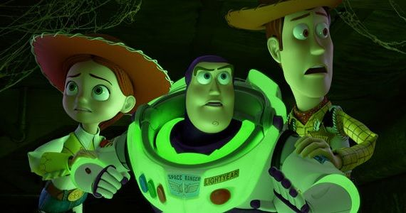 Buzz Jessie and Woody in Toy Story of Terror Toy Story of Terror TV Spot Features Graphic Potato Head Dismemberment