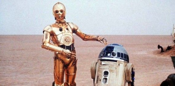 C 3PO and R2D2 Star Wars 570x281 Our 20 Favorite Movie Robots