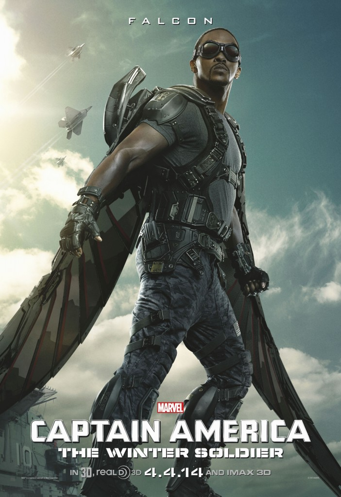 Captain America 2 High Res Falcon Poster 702x1024 The Winter Soldier Spotlighted in New Captain America 2 Poster
