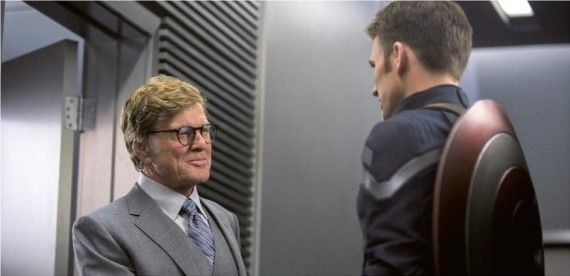 Captain America 2 Official Still Photo Chris Evans Robert Redford 570x276 Set Interview: Chris Evans Talks Captain America 2 & Life As A Marvel Hero