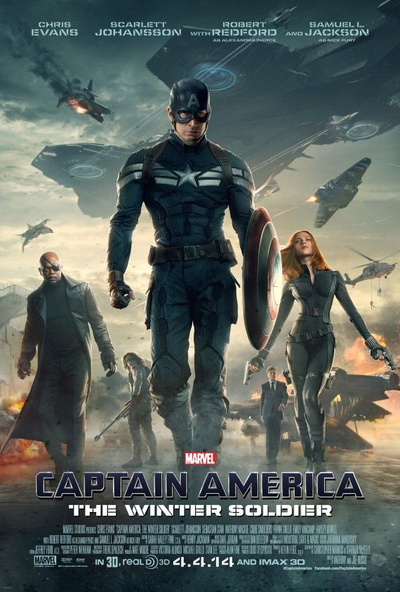 Captain America 2 Poster All Characters 570x844 Captain America: The Winter Soldier Super Bowl Trailer