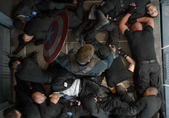 Captain America 2 The Winter Soldier Official Still Elevator Scene Captain America 2 The Winter Soldier Official Still Elevator Scene