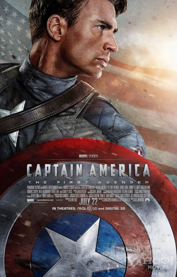 Captain America First Avenger Poster Chris Evans 570x890 Captain America First Avenger Poster Chris Evans