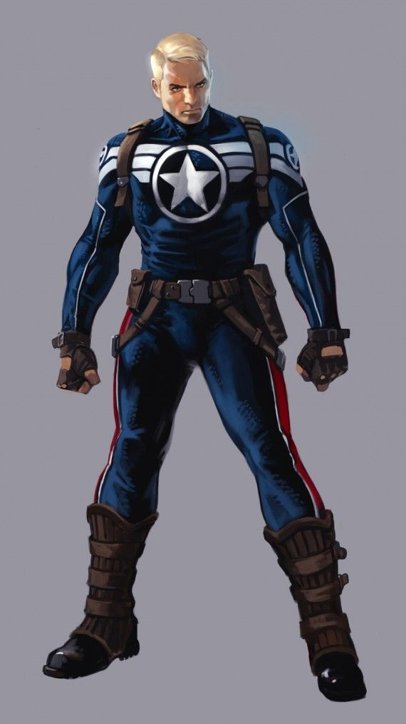 Captain America Secret Avengers Costume 570x1015 Captain America 2 To Feature Secret Avengers Costume? [Updated]