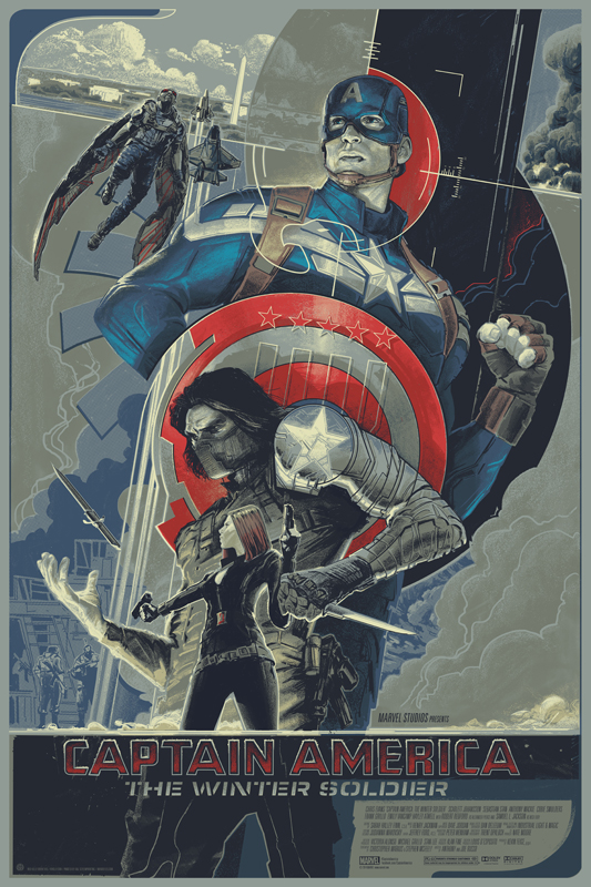 Captain America The Winter Soldier Mondo Poster Rich Kelly Captain America 2 Breaks April Box Office Records [Updated]