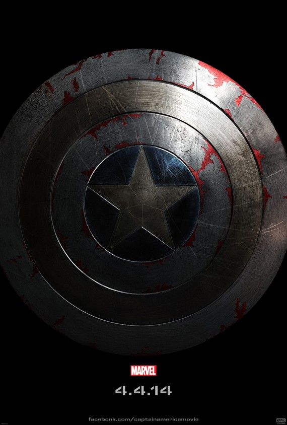 Captain America The Winter Soldier SHIELD Teaser Poster Full Size 570x844 Captain America 2 Poster Is All About The Shield