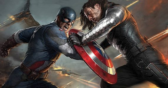 Captain America fighting the Winter Soldier Captain America: The Winter Soldier Is Set Two Years After The Avengers
