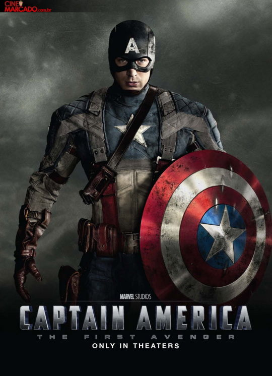 Captain America movie poster with Chris Evans New Captain America Character Posters