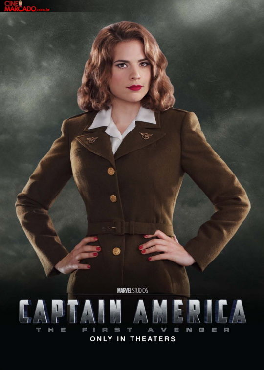 Captain America movie poster with Hayley Atwell New Captain America Character Posters