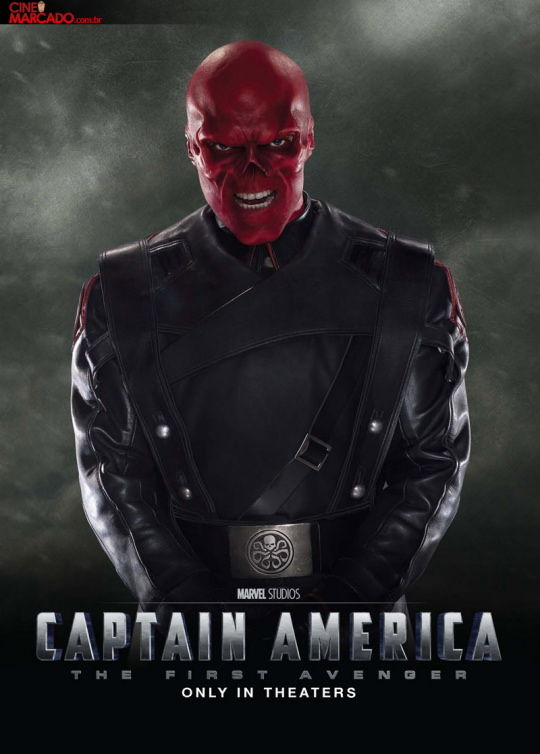 Captain American movie poster with Red Skull New Captain America Character Posters
