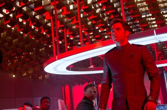 Captain Kirk in Red Room Star Trek Into Darkness 570x378 Captain Kirk in Red Room   Star Trek Into Darkness