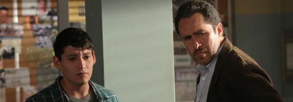 Carlos Pratts and Demian Bichir in The Bridge The Beetle