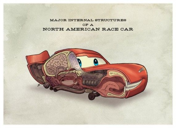 Cars Anatomy 570x416 SR Geek Picks: Toy Story: Call Me Maybe, Agent Coulson The Vision, Honest Hunger Games Trailer & More