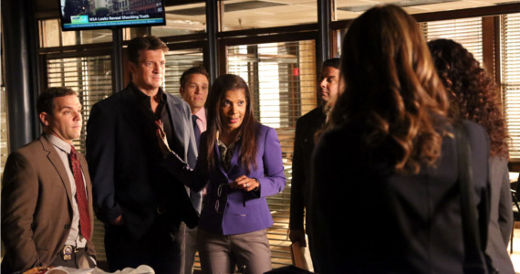 Castle Season 6 episode 3 Beckett Castle Group shot Castle: Kate Beckett and Mr. Spock