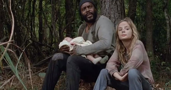 Chad L. Coleman and Brighton Sharbino in The Walking Dead Season 4 Episode 14 The Walking Dead: Dont Play With Dead Things