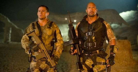 Channing Tatum and Dwayne Johnson in G.I. Joe Retaliation1 Interview: Dwayne Johnson Bonded with Sergeant Slaughter for G.I. Joe 2; Talks Hercules