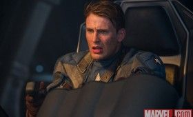 Chris Evans in Captain America 280x170 Official Thor and Captain America Movie Images