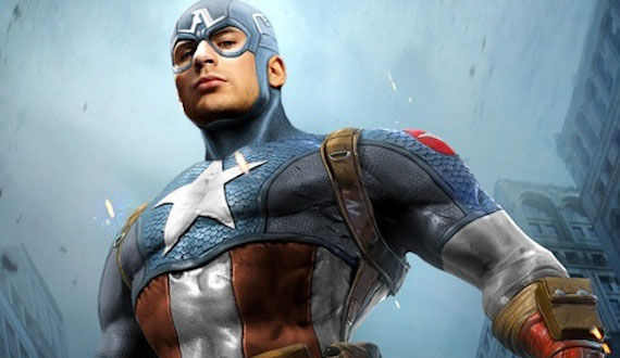 Chris Evans in Captain America costume Chris Evans Talks Captain America