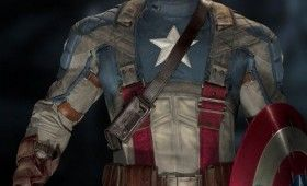 Chris Evans in costume as Captain America 280x170 Official Thor and Captain America Movie Images