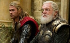 Chris Hemsworth and Anthony Hopkins in Thor The Dark World 280x170 New Thor: The Dark World & Amazing Spider Man 2 Images: