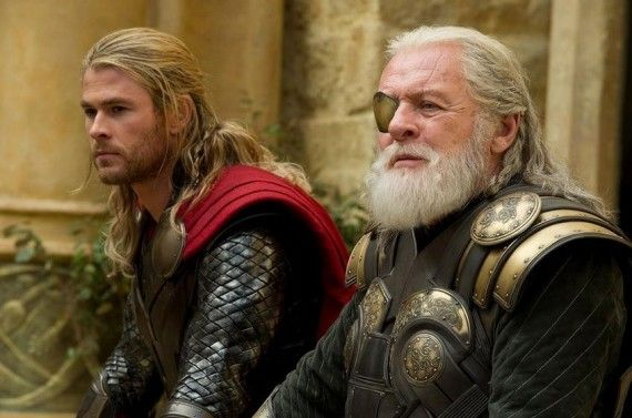 Chris Hemsworth and Anthony Hopkins in Thor The Dark World 570x377 Chris Hemsworth and Anthony Hopkins in Thor: The Dark World