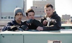 Chris Hemsworth and Josh Hutcherson in Red Dawn 2012 280x170 New Red Dawn Images: War Class is Now in Session