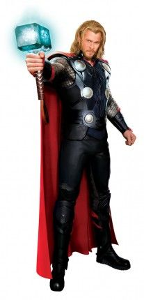 Chris hemsworth thor costume concept art 207x430 Chris Hemsworths Thor in Full Costume With Mjolnir