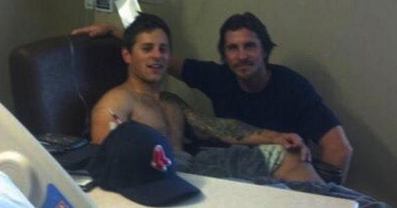Christian Bale Batman Hospital Visit Dark Knight Rises Star Christian Bale Visits Colorado Shooting Victims