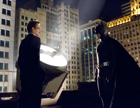 Christian Bale and Gary Oldman