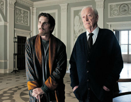 Christian Bale and Michael Caine in the Dark Knight Rises