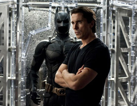 Christian Bale and the Batman Suit