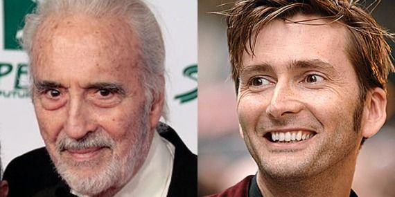 Christopher Lee David Tennant The Hobbit Christopher Lee Will Return for The Hobbit, plus More David Tennant Rumors