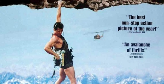 Cliffhanger Starring Sylvester Stallone 570x293 Cliffhanger Reboot in the Works, Screenwriter Attached