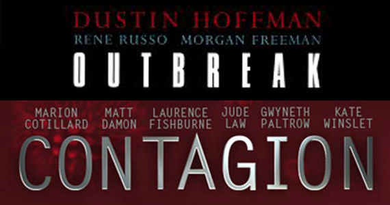 Contagion Outbreak poster Trailer Mashup Shows Contagion Looks A Lot Like Outbreak