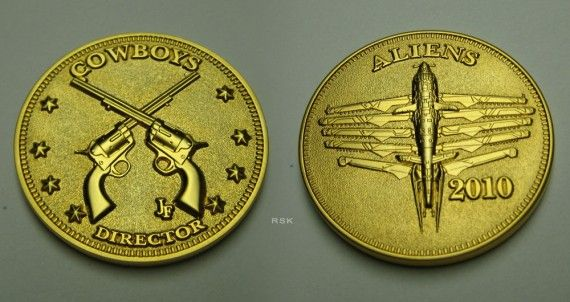 Cowboys and Aliens Challenge Coin 570x302 Cowboys & Aliens: Alien Designs, Motive & Technology