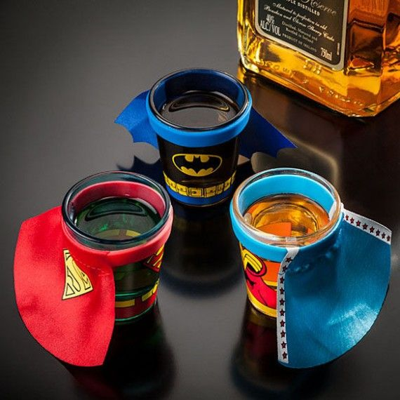 DC Comics Caped Shot Glasses 570x570 SR Geek Picks: Sesame Street Batman, Breaking Bad Print, Bane Memes & More!