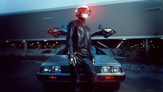 Daft Punk with a Delorean wallpaper 570x320 SR Geek Picks: Conan Spoils Star Trek Into Darkness, Gatsby Explained & More