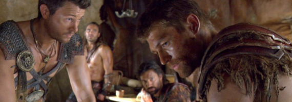 Dan Feuerriegel Dustin Clare Manu Bennett and Liam McIntyre Spartacus War of the Damned Enemies of Rome Spartacus: War of the Damned Season Premiere Review – A Mans True Enemy