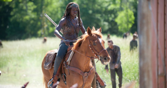 Danai Gurira in The Walking Dead Infected The Walking Dead Puts the Prison Under Siege in More Ways Than One