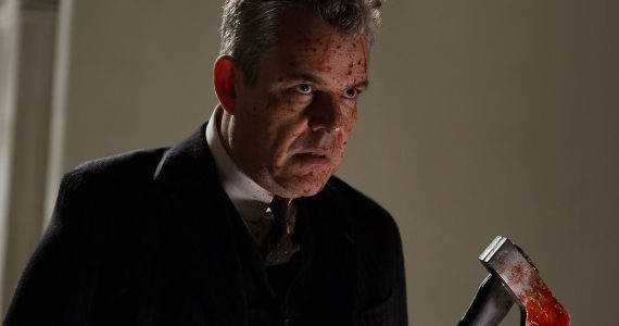 Danny Huston as the Axeman in AHS Coven Episode 12 American Horror Story: Coven: Someone Has an Axe to Grind