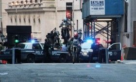 Dark Knight Rises Mercenaries Jumping Bikes 280x170 Dark Knight Rises On Wall Street; Batwing Soars & A Mystery Device